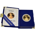 1990-W American Gold Eagle Proof 1 oz $50 in OGP