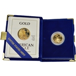 1991-P American Gold Eagle Proof (1/4 oz) $10 in OGP