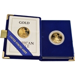 1991-P American Gold Eagle Proof 1/2 oz $25 in OGP