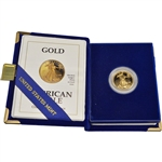 1992-P American Gold Eagle Proof (1/4 oz) $10 in OGP