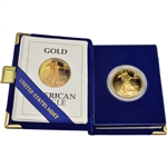 1992-W American Gold Eagle Proof 1 oz $50 in OGP