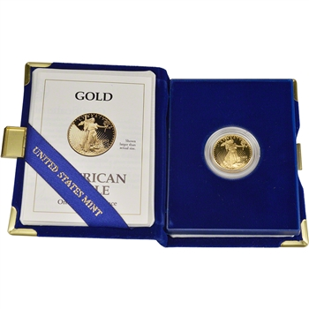 1993-P American Gold Eagle Proof (1/4 oz) $10 in OGP