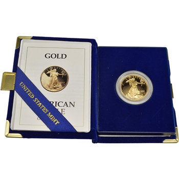 1993-P American Gold Eagle Proof 1/2 oz $25 in OGP