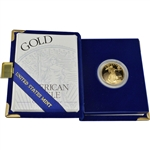 1995-W American Gold Eagle Proof 1/2 oz $25 in OGP