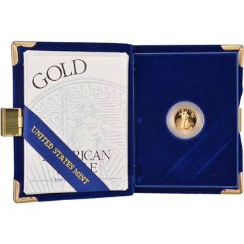 1995-W American Gold Eagle Proof (1/10 oz) $5 in OGP