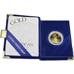 1999-W American Gold Eagle Proof 1/2 oz $25 in OGP