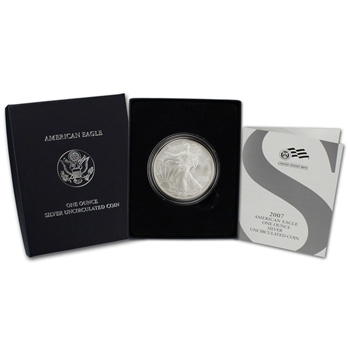 2007-W American Silver Eagle Uncirculated Collectors Burnished Coin