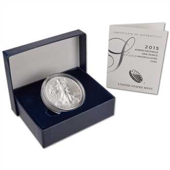 2015-W American Silver Eagle Uncirculated Collectors Burnished Coin