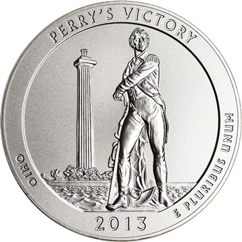 2013-P US America the Beautiful Five Ounce Silver Uncirculated Perry's Victory