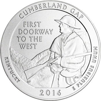 2016-P US America the Beautiful Five Ounce Silver Uncirculated Coin Cumberland