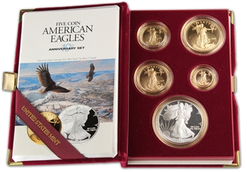 1995-W American Eagles 10th Anniversary Gold & Silver Proof Set