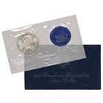 1973 US Eisenhower Uncirculated Silver Dollar - Blue Ike 40% Silver