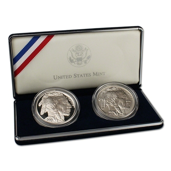 2001 US American Buffalo 2-Coin Commemorative Set