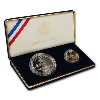 2002 US Salt Lake City Olympic Games 2-Coin Commemorative Proof Set