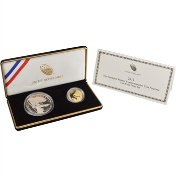 2012 US Star-Spangled Banner 2-Coin Commemorative Proof Set