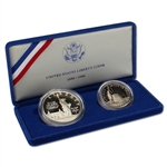 1986 US Statue of Liberty 2-Coin Commemorative Proof Set