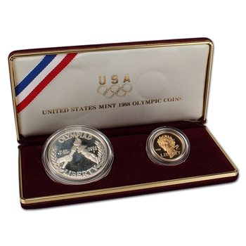 1988 US Olympic 2-Coin Commemorative Set