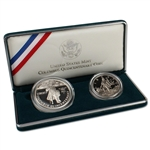 1992 US Columbus Quincentenary 2-Coin Commemorative Proof Set