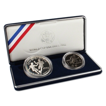 1994 US World Cup 2-Coin Commemorative Proof Set