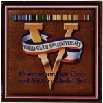 1993 US World War II Commemorative Coin and Victory Medal Set