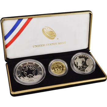 2015 US United States Marshals Service 3-Coin Commemorative Proof Set