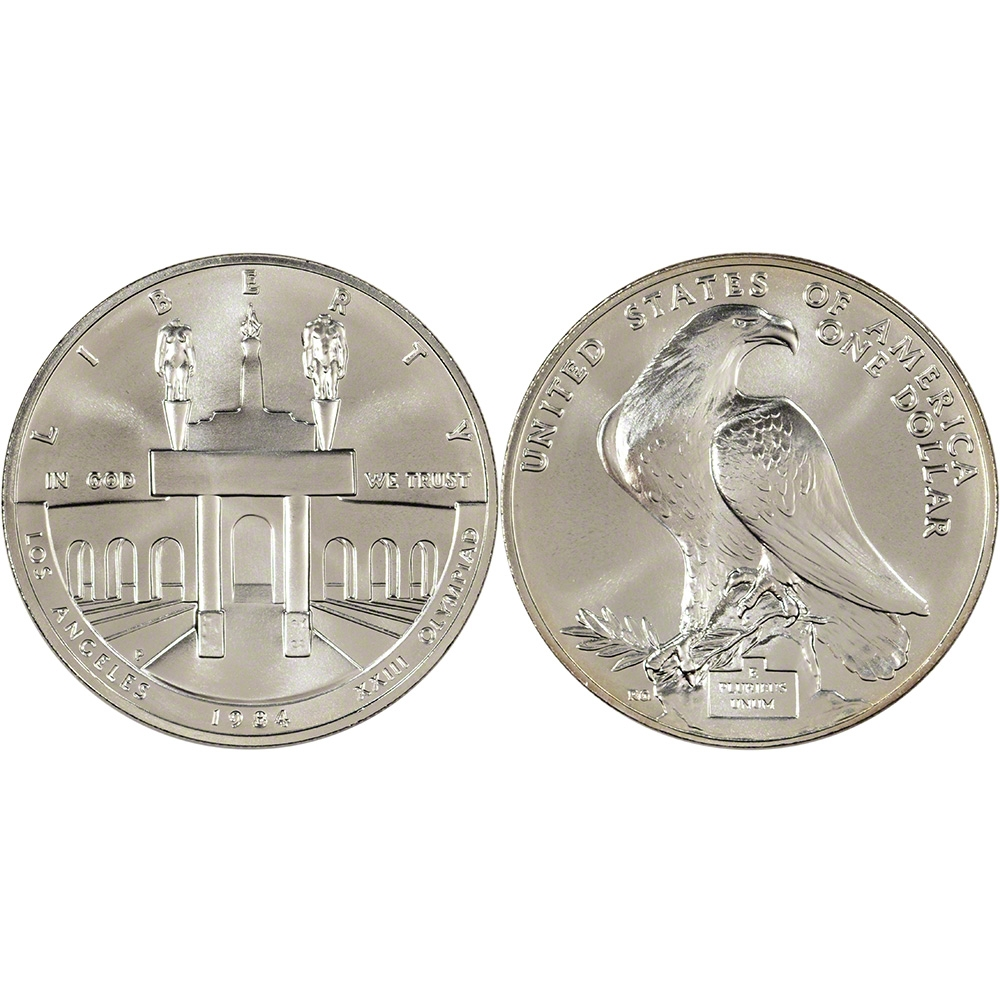 1983 Amp 1984 Us Gold Amp Silver Olympic 3 Coin Commemorative