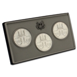 1984 US Olympic 'PDS' 3-Coin Commemorative BU Set