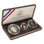 1989 US Congressional 3-Coin Commemorative Proof Set
