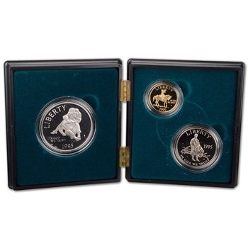 1995 US Civil War Battlefield 3-Coin Commemorative Proof Set in Photo Case