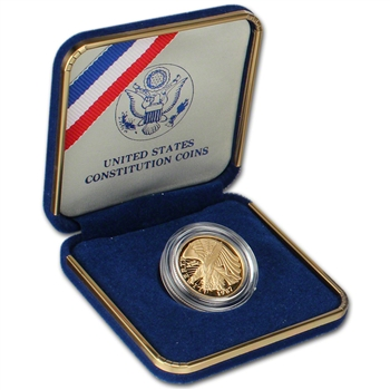 1987-W US Gold $5 Constitution Commemorative Proof
