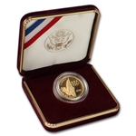 1996-W US Gold $5 Atlanta Olympic Flag Bearer Commemorative Proof