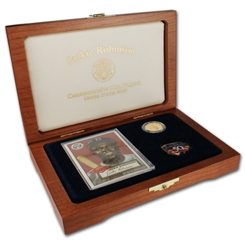 1997-W US Gold $5 Jackie Robinson Commemorative Legacy Proof Set