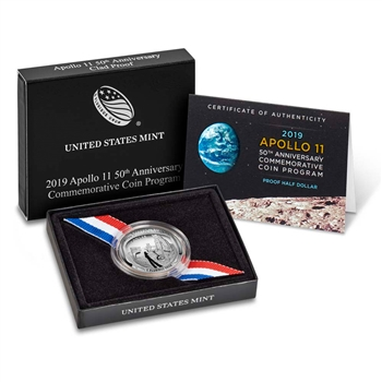 2019 S US Apollo 11 Commemorative Proof Half Dollar (19CE)