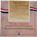 1993 US James Madison Bill of Rights Silver Half Dollar & Presidential Medal Set