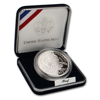 2000-P US Library of Congress Commemorative Proof Silver Dollar