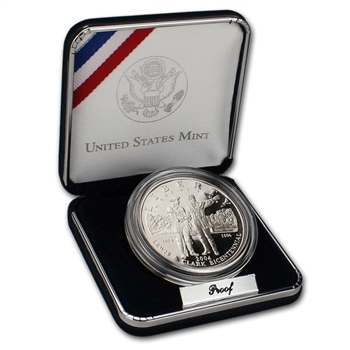 2004-P US Lewis & Clark Bicentennial Commemorative Proof Silver Dollar