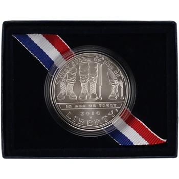 2010-W US American Veterans Disabled for Life Commemorative BU Silver Dollar