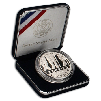 2010-W US American Veterans Disabled for Life Commemorative Proof Silver Dollar