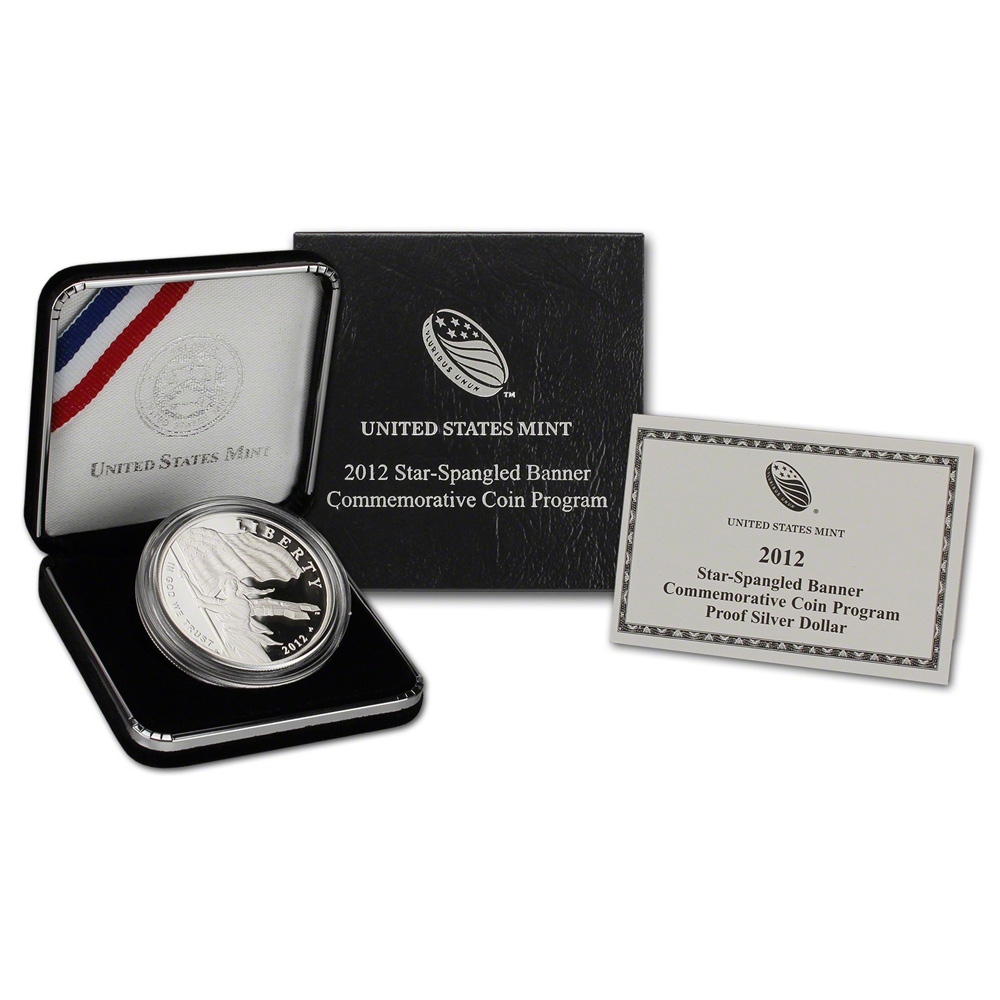 2012-P $1 Proof Star-Spangled Banner Commemorative Silver Dollar
