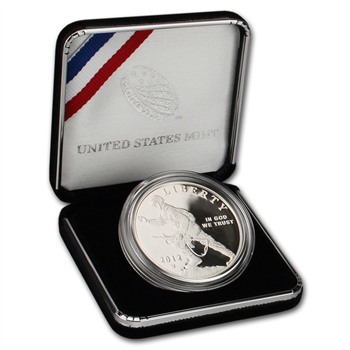 2012-W US Infantry Soldier Commemorative Proof Silver Dollar