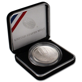 2014-P US National Baseball Hall of Fame Commemorative BU Silver Dollar $1