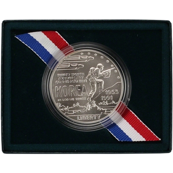 1991-D US Korean War Memorial Commemorative BU Silver Dollar