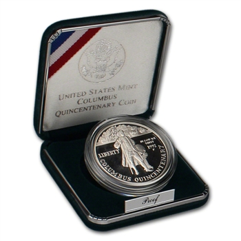 1992-P US Columbus Quincentenary Commemorative Proof Silver Dollar