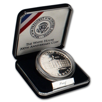 1992-W US White House 200th Anniversary Commemorative Proof Silver Dollar