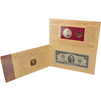 1993 US Thomas Jefferson Coinage & Currency Set