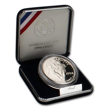 1994-S US World Cup Commemorative Proof Silver Dollar