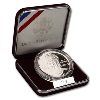 1995-P US Atlanta Olympic - Cycling - Commemorative Proof Silver Dollar