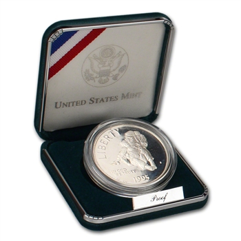 1995-S US Civil War Battlefield Commemorative Proof Silver Dollar