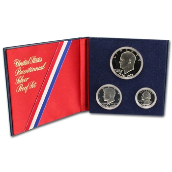 1976 US Mint 3-pc Bicentennial Proof Set