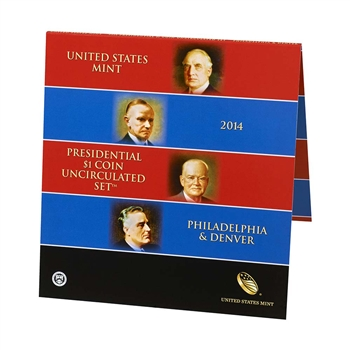 2014 US Mint Presidential $1 Coin Uncirculated Set